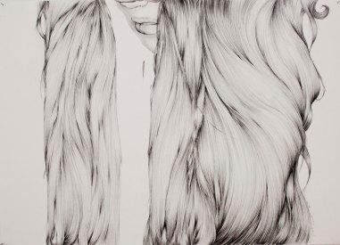 MELENA / 50X70 / Grafito sobre papel